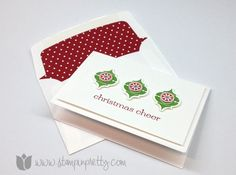 Stampin up stampinup christmas holiday card idea mary fish stamp it pretty very merry mosaic punch