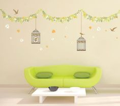 Garden style wall sticker- maybe for baby room?