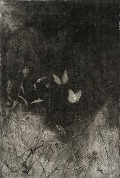 "Butterflies William Baxter Closson (USA, 1848-1926) circa 1887 Wood engraving 6 3/4"" x 4 1/2"""