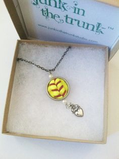 Softball Necklace / Repurposed /  Softball Pendant / Recycled /  Softball Mom / Up-cycled / Softball Charm. $25.00, via Etsy.