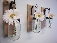 Embellish your walls with these wrought iron hooks. You can easily change out what goes in the jar for seasonal or celebratory decorating.