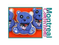 Halloween cookies - Zombie teddy bear cookies - How-to Video!