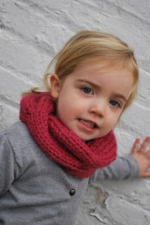 Knitting Patterns Galore - Children's Quick Knitted Cabled Cowl