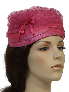 I love this vintage hat from the 60's  Perfect for Derby