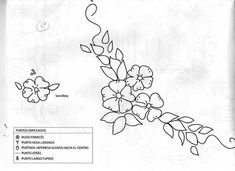 Patrones para bordar cinta - Imagui                                                                                                                                                      Más