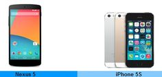 Comparison Of Specs Nexus 5 And iPhone 5s