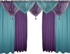 teal and purple curtains - Google Search