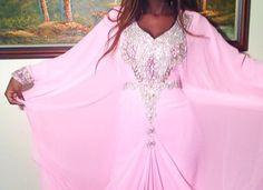 beautiful #dress #Dubai #fashion #hair #lightpink #mode #pink #robe #rose #magnifique #robedubaï