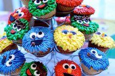 Cupcakes Plaza Sésamo, betún de Mantequilla.