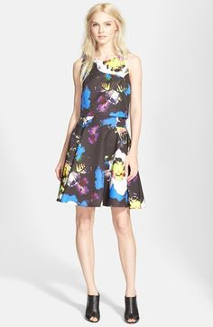 Milly 'Avery' Floral Print Dress available at #Nordstrom