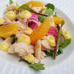 Une petite salade de crabe et aïoli... #menubistronomique #crabe #aïoli #salade #Food #Foodista #PornFood #Cuisine #Yummy #Cooking