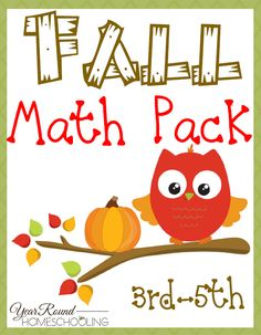 Free Fall Math Pack (3rd-5th) -