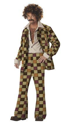 California Costumes Men's Disco Sleaze Ball Costume,Brown,X-Large Halloween Spirit 1960s Costumes, Girl Costumes, Adult Costumes, Costume Ideas, Disco Costume, 70s Costume, Costume Parties, Hippie Costume, Best Diy Halloween Costumes