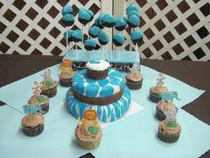 baby shower cake-jungle theme