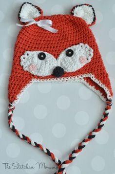 Animal Hat Crochet Patterns-fox
