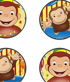 Free curious george birthday party printables Curious George Cupcakes, Curious George Party, Curious George Birthday, 1st Birthday Boy Themes, Boy Birthday Parties, 2nd Birthday, Birthday Ideas, Party Printables, Free Printables
