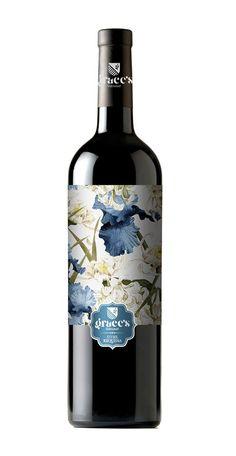 Etiqueta de vino realizada para Grace´s Harvest. Variedad Utiel -Requena