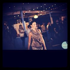 Sfilata Peut-être al molo9cinque 30/08/2014 #peut #peutetre #sfilata #fashion #artigianale #madeinitaly #top #diy #handmade #sumisura #marrone #damasco #damascato #gonna #sabbia #pastello