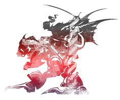 Final Fantasy VI logo grunge by Greven