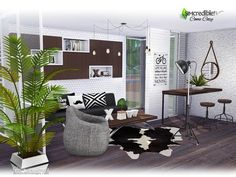 We created  this comfort living room for your sims enjoy some chat with friends or a relaxing time after a full exhaustive work day.  Found in TSR Category 'Sims 4 Living Room Sets'