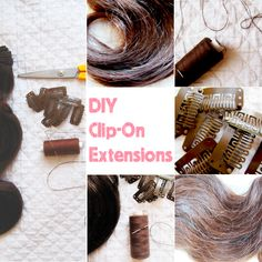 DIY clip-on extensions. I say full hair is a must, wanna know how to do this? check the video: http://www.mimifashionland.com/2012/05/video-diy-clip-hair-extensions/