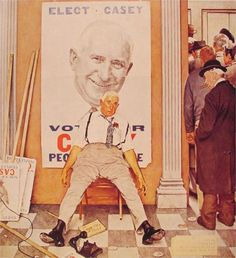 Visits a Ration Board - Norman Rockwell - WikiPaintings.org