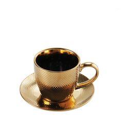 gold cup, złota filiżanka, tea time, coffee break
