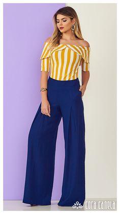 LOOKBOOK 5 – Cora Canela Trendy Fashion, Girl Fashion, Fashion Dresses, Womens Fashion, Casual Wear, Casual Outfits, Sewing Blouses, Square Pants, Moda Vintage