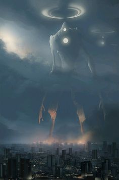 Art featuring giant creatures that dwell on land. Dark Fantasy Art, Fantasy Artwork, Foto Fantasy, Dark Artwork, Arte Horror, Horror Art, Monster Art, Arte Obscura, Creepy Art