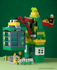 So cool ... a leprechaun trap kids can make with LEGO for St. Patrick's Day!
