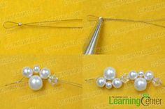 Bridal Jewelry on Making a Pearl Wedding Necklace With Ribbon: This is a ribbon and pearl necklace for wedding, you can make you own pearl wedding necklaces through this tutorial. Pearl Necklace Wedding, Wedding Necklaces, Pearl Earrings, Bead Jewellery, Jewelry Necklaces, Jewlery, Bracelet Making, Jewelry Making, Jewelry Patterns