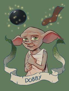 Qui vediamo un Dobby molto tenero e con il suo calzino