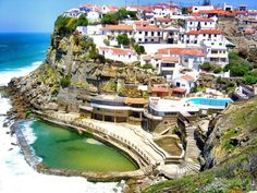 Azenhas do Mar, Portugal. Near Sintra. With a natural swimming pool.