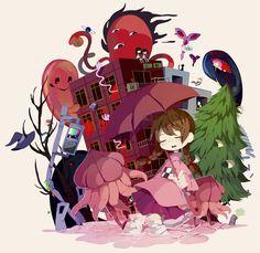 Tags: Fanart, Pixiv, Yume Nikki, Madotsuki, Monoe, Monoko, Poniko, Uboa, Sekomumasada Sensei, Kyukyu-kun, Fanart From Pixiv, Toriningen, Pix...