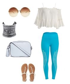 """Untitled #2"" by bbrazilbbold on Polyvore featuring Sans Souci, Aéropostale, LULUS, Linda Farrow and Tory Burch"