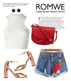 """""""Romwe Contest"""" by angel-with-shotgun ❤ liked on Polyvore featuring Jimmy Choo, Versace, KC Jagger and Melissa Joy Manning"""