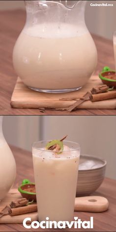 The video consists of 23 Christmas craft ideas. Easy Drink Recipes, Yummy Drinks, Healthy Drinks, Smoothie Recipes, Cooking Recipes, Yummy Food, Detox Drinks, Mexican Snacks, Mexican Drinks