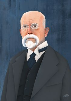 Portrait of the first Czechoslovak president Tomas Garrigue Masaryk