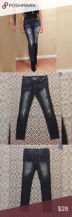 """Cute Stylish Jeans In good condition! Length of hip to bottom is 36.5"""". Length of crotch to bottom is 27.5"""". Blue Asphalt Jeans"""