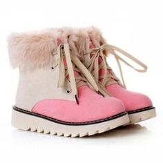 Wholesale Sweet Color Block and Ribbit Hair Design Women's Snow Boots Only $11.80 Drop Shipping | TrendsGal.com