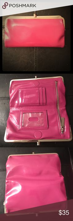 Magenta Hobo wallet- little use Magenta Hobo wallet with little use! Great condition!! No stains and clamp works perfectly! HOBO Bags Wallets