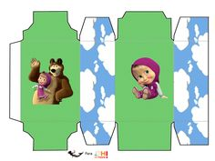 Oh My Fiesta! in english: Masha and the Bear: Free Printable Boxes.