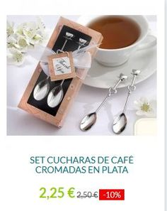 . Estas encantadoras cucharas, están hechas de metal plateado y con detalles de corazones. Las cucharas son de buena calidad y con un peso notable