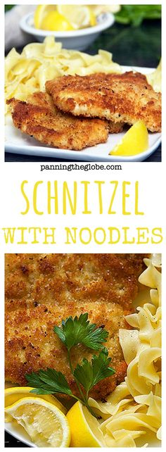 Chicken Schnitzel: Crisp on the outside. Tender inside.