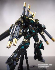 GUNDAM GUY: MG 1/100 RX-0-2 Full Armor Banshee - Customized Build