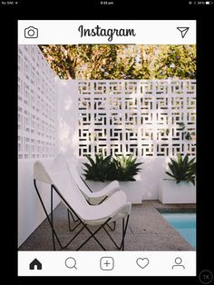 It would be nice to incorporate some more breeze blocks to tie in the front yard to backyard. Home And Garden, Mid Century Modern House, Fence Design, Front Garden, Patio Design, Outdoor Walls, Front Yard, Breeze Blocks, Breeze Block Wall