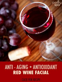 Everyone knows that the Resveratrol in red wine is good for your heart, but did you know that since Resveratrol is an antioxidant that it is also amazingly good for your skin?  Dr Oz gave a recipe for a Red Wine Facial Mask that has tons of anti-aging properties.  In addition to red wine, the honey helps reduce redness and blemishes, while the yogurt works to moisturize your skin.