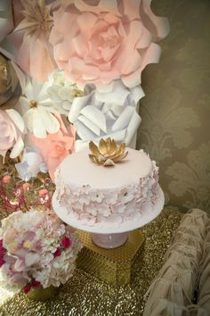 Pink + Gold Themed Birthday Party via Kara's Party Ideas KarasPartyIdeas.com The Place for ALL THINGS PARTY! #pinkandgoldparty #firstbirthday #goldparty #pinkbirthdayparty #twinparty (32)