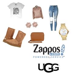 """The Icon Perfected: UGG Classic II Contest Entry"" by jadafields ❤ liked on Polyvore featuring River Island, UGG Australia, Michael Kors, Movado, ugg and contestentry"