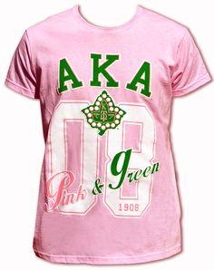 AKA 1908 pink and green tee